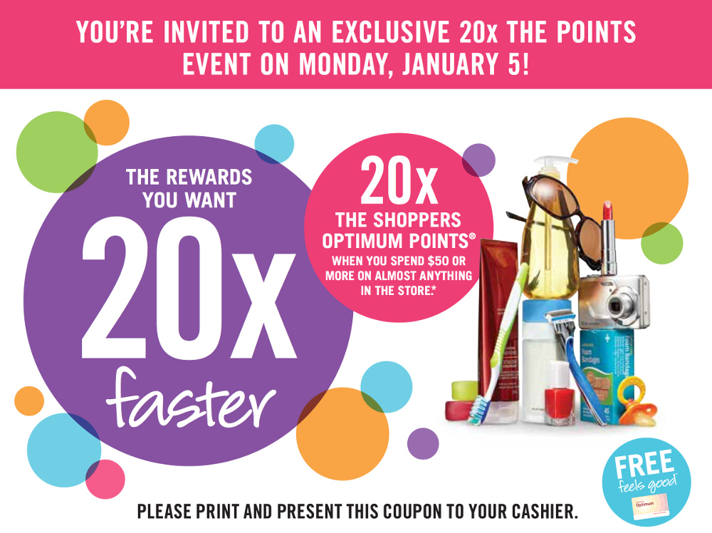Shoppers double points event
