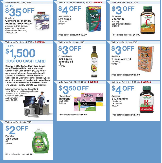 costco canada weekly instant handouts coupons/flyers for eastern ...