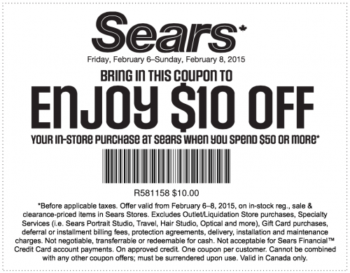 Sears outlet coupon code