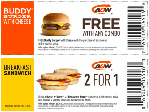 Save money on things you want with a A&W Canada promo code or coupon. 13 A&W Canada coupons now on RetailMeNot.