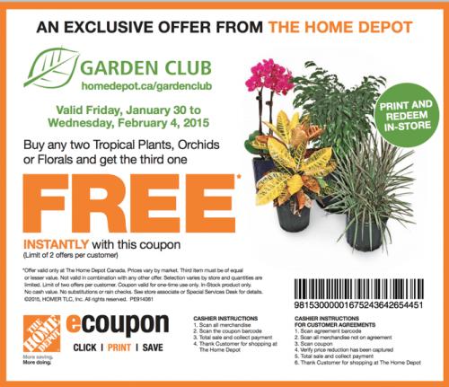 home depot garden coupon - Home Depot Garden Club