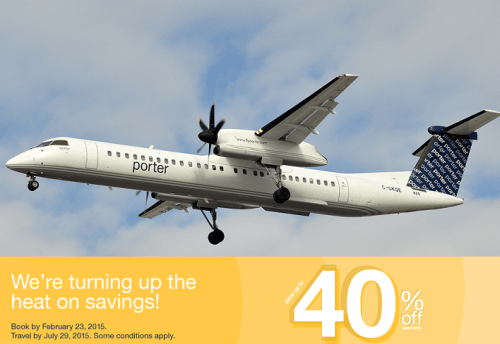 Porter airlines canada tickets deals save up to 40 on flights to polular canadian and u s - Porter airlines book flights ...