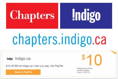 Chapters Indigo Canada: Save $10 Off When You Spend $50