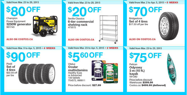 Costco Canada Weekly Instant Handouts Coupons/Flyers For Eastern
