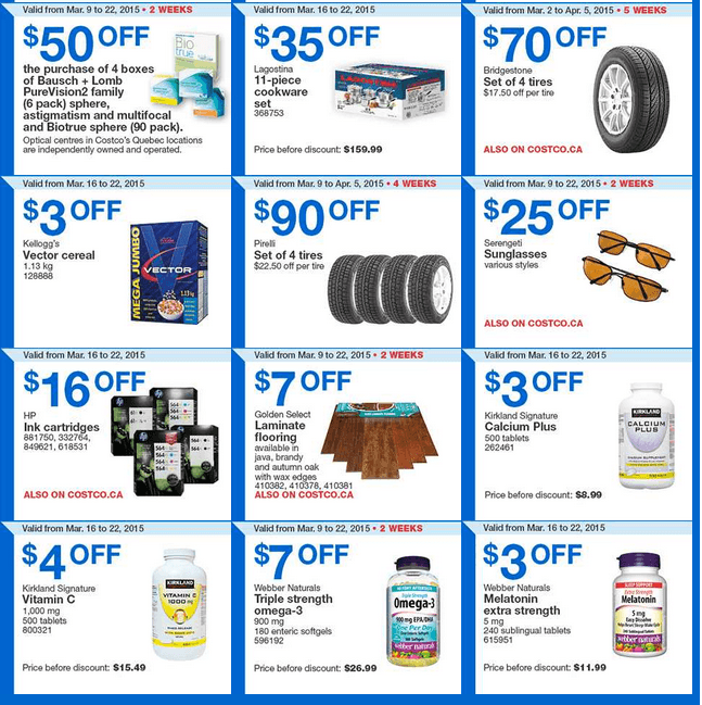 Costco tire discount coupons