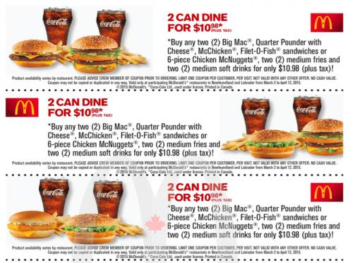 Mcdonalds coupons pt