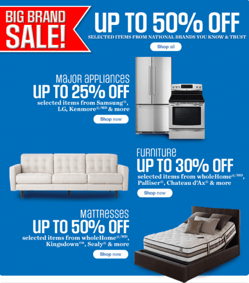50 Off Mattress Sale: Sears Canada Big Brand Sale: Save Up To 50% Off On Brands