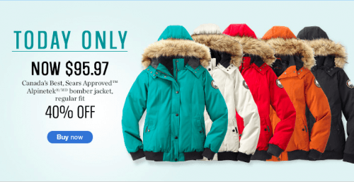 Sears Canada One Day Sale Save 40 Off On Alpinetek