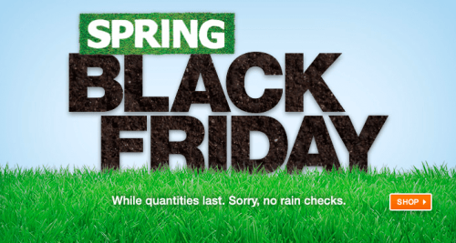 Home Depot Canada Spring Black Friday 50 Off Outdoor And Decor And Up To 400 Off Tools