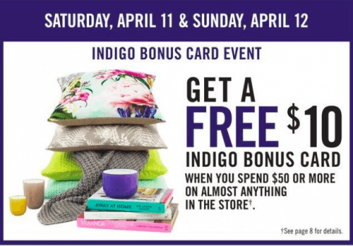 Screen Shot 2015 04 09 at 8.03.07 AM 500x349 Shoppers Drug Mart Canada Offers: Get a FREE $10 Indigo Bonus Card When You Spend $50 or More