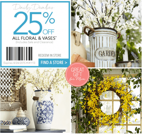 Pier 1 Imports Canada: Pier 1 Imports Canada Coupons: 25% Off Florals And Vases