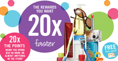 ks20 500x261 Shoppers Drug Mart Canada Offers: Get 20x the Optimum Points when You Spend $50 or More on Almost Anything! April 25   26