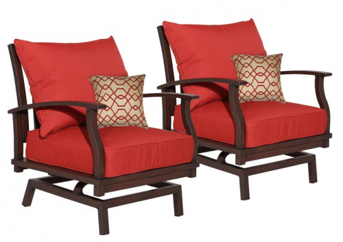 Beautiful The Second Deal From Loweu0027s This Morning Is On A Set Of 2 Allen + Roth  Gatewood Patio Motion Chairs. These Stylish Chairs Normally Sell For $669,  ...