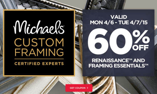 special offers from michaels arts crafts insiderpagescom - Michaels Coupons For Framing