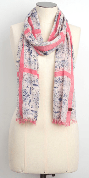 roots-canada-floral-scarf
