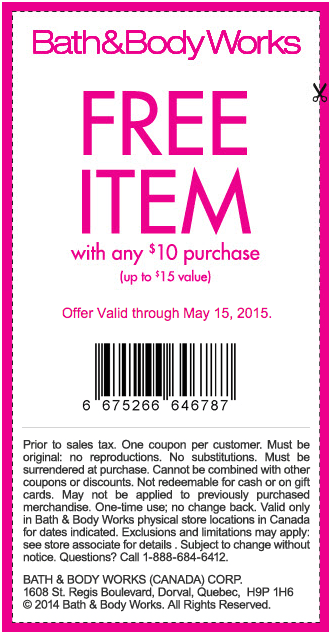 Bath Amp Body Works Canada Coupons Amp Deals Get Free Item