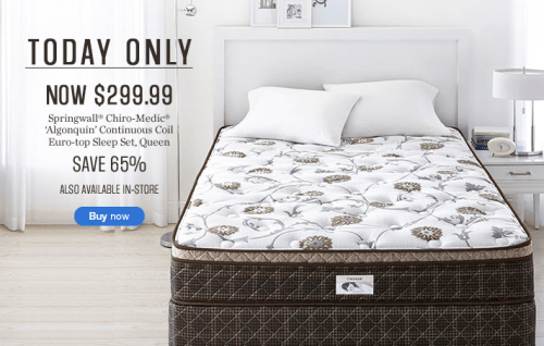 Sears Canada Flash Sale Save 65 On Queen Size Springwall