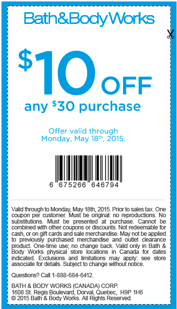 Bath and body canada printable coupons