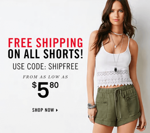 forever-21-canada-shorts-free-shipping-sale