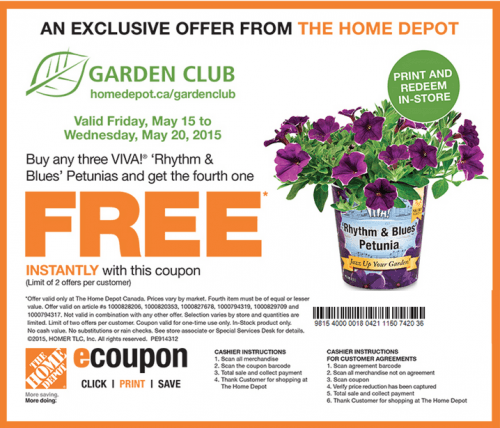 The Home Depot Canada Garden Club Printable Coupons