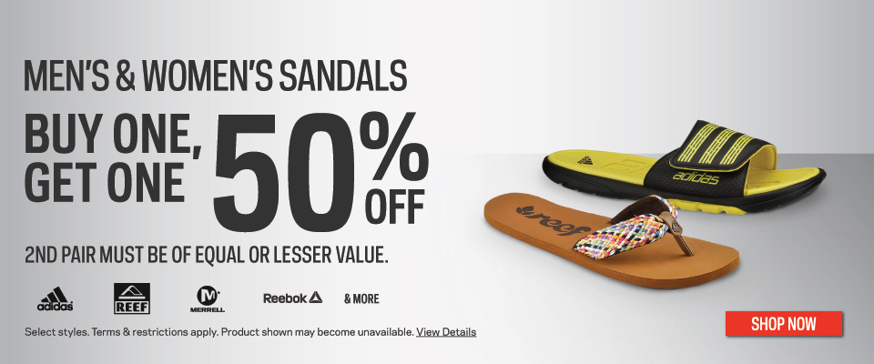 Sport Chek Canada Deals: Buy One, Get One 50% Off on Men's and Women's  Sandals Plus 25% Off Nike Athletic Bags