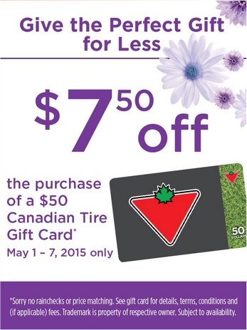 Foodland Ontario Get 7 50 Off 50 Canadian Tire Gift