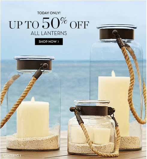 Pottery Barn Canada Today Offers Save Up To 50 On All