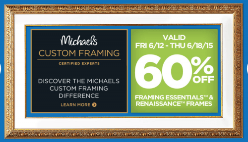 Michaels coupons framing 60