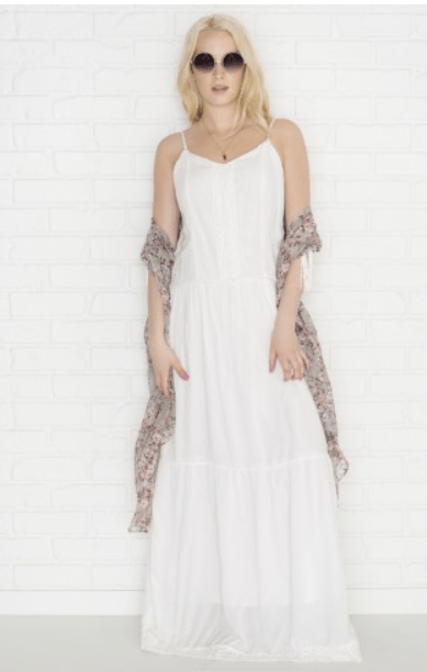 2e4105cea6 You can also take advantage of this latest offer at Ardene to get some  amazing deals on pricier items like this White maxi dress with crochet lace.