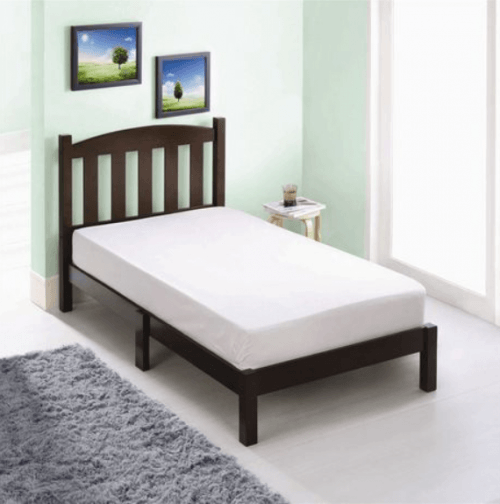 Amazing If you ure looking to update your child us room with a new bed head into Walmart and save off your purchase of a Mainstays Twin wood bed