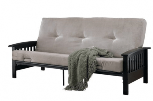 Lovely If you ure in search for an affordable couch bed or guest bed pick up the Dorel Neo Espresso Wooden Arm Futon for just was