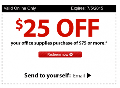 Coupons For Staples 25 Off 75 Coupon Code Free Printable 2017
