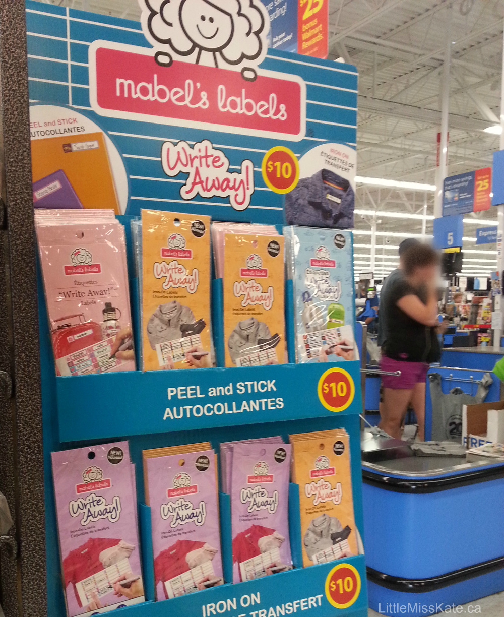 """Mabel's Labels """"Write Away"""" Iron On Labels $1 50 at Walmart"""