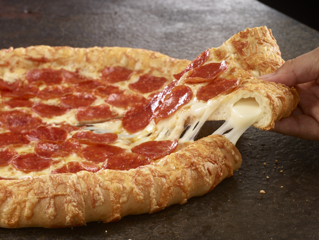 cheese stuffed pizza