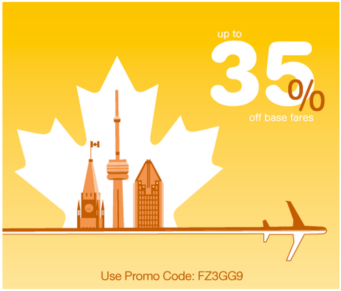 Porter airlines canada new promo code save 35 off base for Porter canada