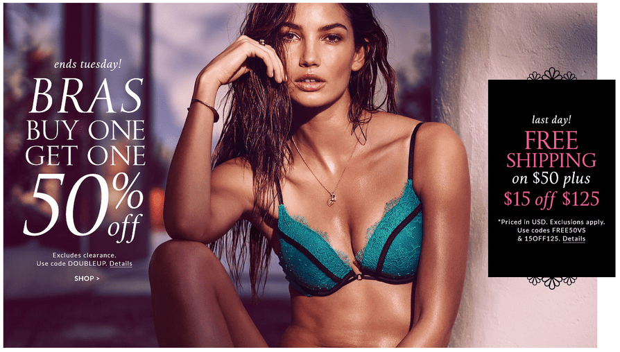 Even better, score FREE shipping on a $50 order when you use the code Victoria's Secret. Shipping is free on orders over $ otherwise, shipping is a flat rate of $8. Share this: Click to share on Facebook (Opens in new window) Click to share on Twitter (Opens in new window).