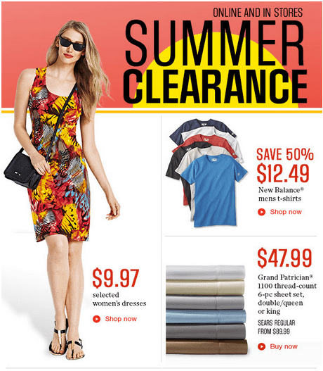 Sears canada summer clearance sale save 50 on new for Sears dress shirts sale