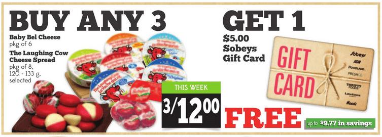 Sobeys Urban Fresh: $5 Gift Card When You Buy 3 Baby Bel ...