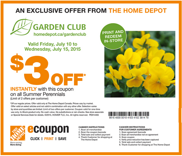 The Home Depot Canada Garden Club Coupons Get 300 Off