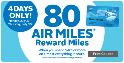 rexall airmiles deal july 27