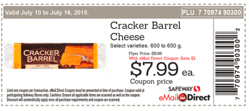 photograph about Cracker Barrel Coupons Printable identify Safeway Canada Discount codes: $7.99 Cracker Barrel Cheese, 50% Off