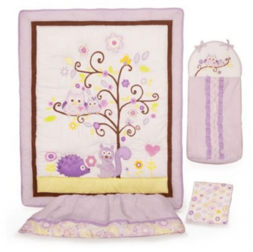 Awesome Shop ca also has a great deal on this Dena Piece Crib Bedding Set in Owl Blossom Originally sold for you can purcahse it now for only