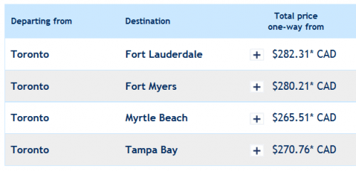 Flights From Myrtle Beach To Toronto One Way