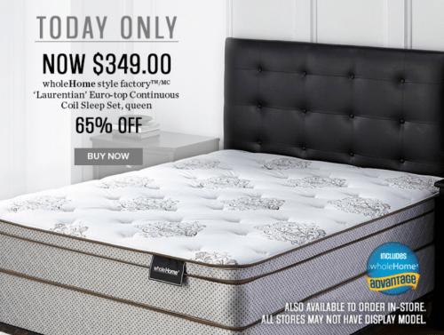 Sears Mattress Sets >> Sears Canada Flash Sale Save 65 Off Wholehome Style