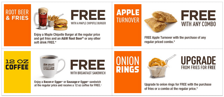 picture about Beer Coupons Printable identified as AW Canada Fresh Coupon codes: Acquire No cost Root Beer Fries, Cost-free