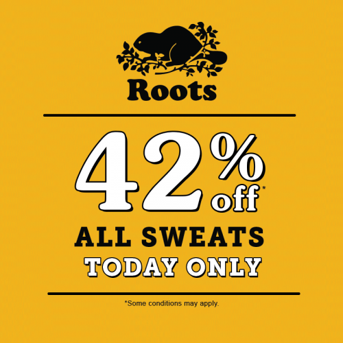 13f53705e9a4 Roots Canada Anniversary Sale  Save 42% Off All Sweats Today Only ...