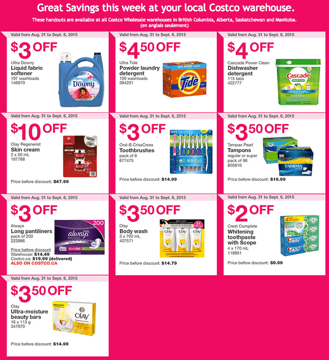 costco canada weekly instant handouts coupons/flyers for western ...