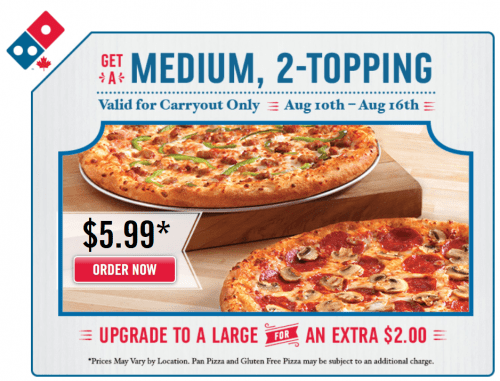 dominos pizza carry out coupon codes