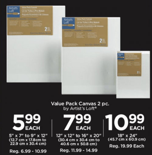 Michaels Arts and Crafts Canada Weekly Flyer Deals: Canvas Value ...