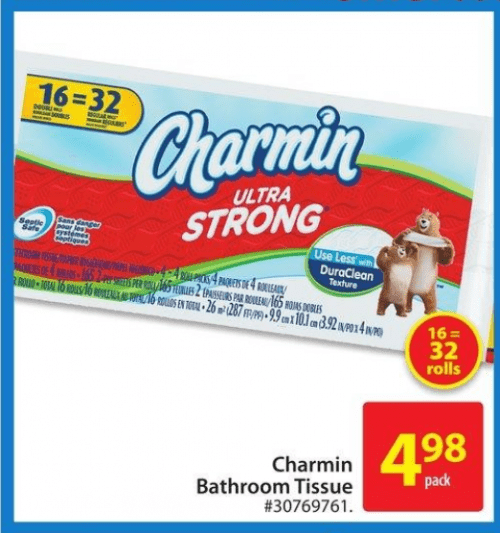 Charmin Toilet Paper On Sale: Walmart Canada Deals: $4.98 For Charmin Ultra Strong